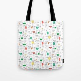 Summer outline Tote Bag