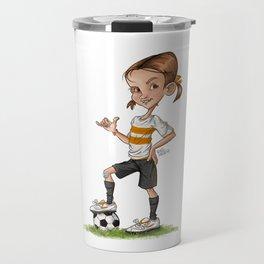 Soccer Girl Travel Mug