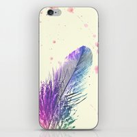 feather iPhone & iPod Skins featuring Feather  by Monika Strigel