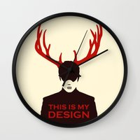 hannibal Wall Clocks featuring Hannibal by Pixel Design