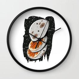 Orange Moon | Galaxy Milky Way Slice Wall Clock
