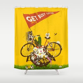 GET BUSY LIVIN Shower Curtain