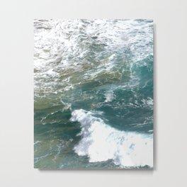 Beautiful Blue Crashing Waves Australia Metal Print