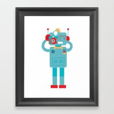 Robot loves Diana Framed Art Print