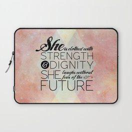 Proverbs 31 She is...  Laptop Sleeve
