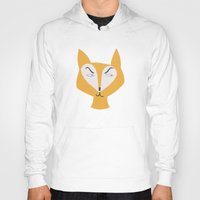 mr fox Hoodies featuring Mr Fox by Lydia Coventry