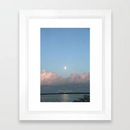 Falcon 9 in Flight Framed Art Print