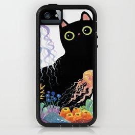 the Aquarium Cat _ Jellyfish iPhone Case