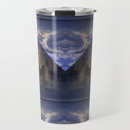Water and Clouds Travel Mug