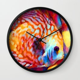 Discus Fish Wall Clock