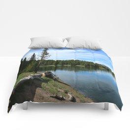 Serene Yellowstone River Comforters