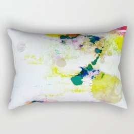 Abstract Paint Splatter Art Rectangular Pillow