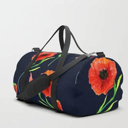 Red Poppies Field Duffle Bag