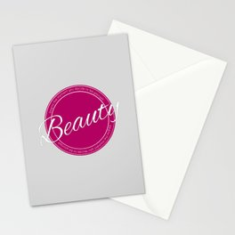 Beauty quote Stationery Cards