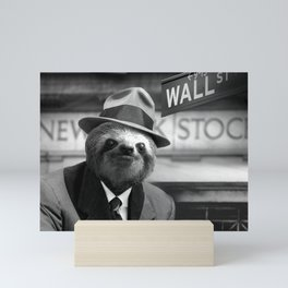 Sloth in Wall Street Mini Art Print