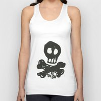 all time low Tank Tops featuring All Time Low Skull and Cross Bones by Kelsey