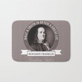 Benjamin Franklin the Whole Truth Bath Mat