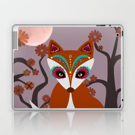 Autumn Sugar Skull Fox Laptop & iPad Skin