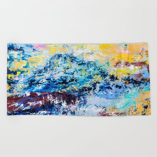 Visionary mountain Beach Towel