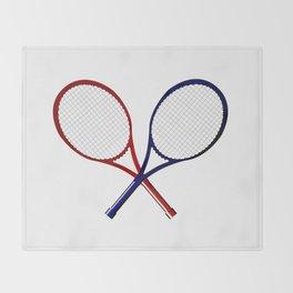 Crossed Rackets Throw Blanket