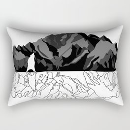 Mountains Bear Rectangular Pillow