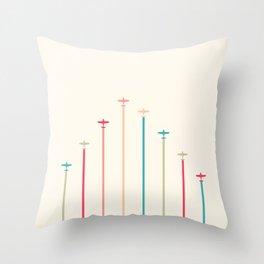 Retro Airplanes 01 Throw Pillow