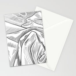Flowing Bed Sheets Stationery Cards