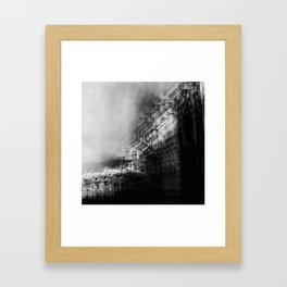city in monochrome Framed Art Print