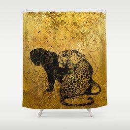 Gold Safari Shower Curtain
