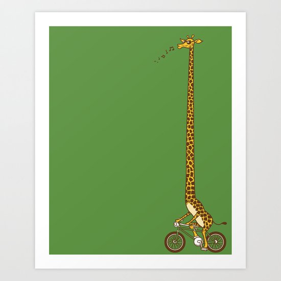 Long Bike Ride Art Print