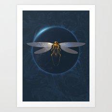 Steampunk Dragonfly Art Print