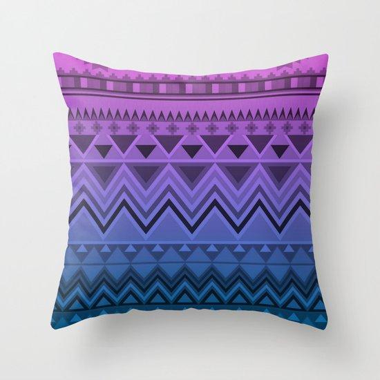 Aztec Ombre Throw Pillow
