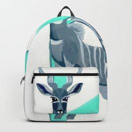 K is for Kudu Letter Alphabet Decor Design Art Pattern Backpack