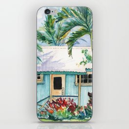 Tropical Vacation Cottage iPhone Skin