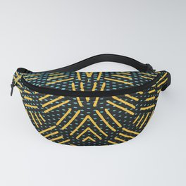 Hatching Pattern Fanny Pack