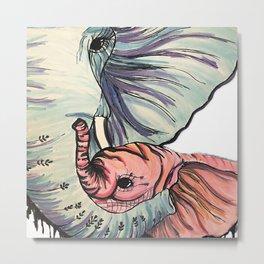 Compassionate Elephant Metal Print