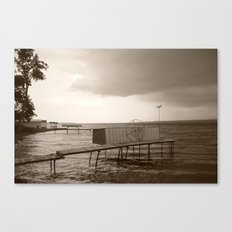 Storm Clouds over Cayuga Lake 2013 Canvas Print