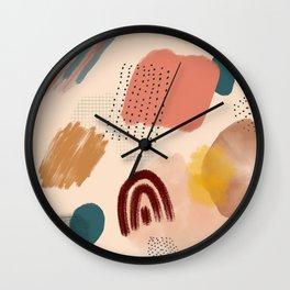 Boho Abstract Art Study Wall Clock