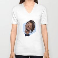 danny haas V-neck T-shirts featuring Danny Brown by LinnMaria_ink