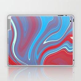 Blue Red Marble 1 Laptop & iPad Skin