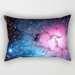 Galaxy : Rose Nebula Pink & Blue Rectangular Pillow