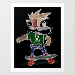 Skateman Art Print