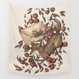 Coyote Love Letters Wall Tapestry
