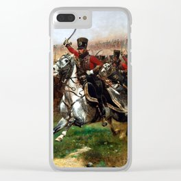 Edouard Detaille Vive L'Empereur Clear iPhone Case
