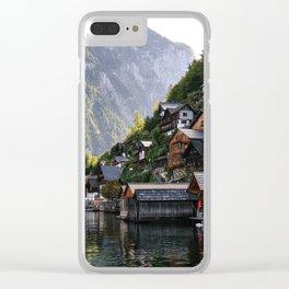 Lakeside village Halstatt, Austria Clear iPhone Case