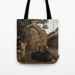 Village Life in Nepal 001 Tote Bag