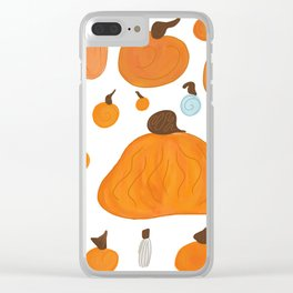 Pumpkin Family Clear iPhone Case