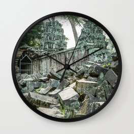 Ta Phrom, Angkor Archaeological Park, Siem Reap, Cambodia Wall Clock