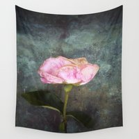 depression Wall Tapestries featuring Wilted Rose III by Maria Heyens