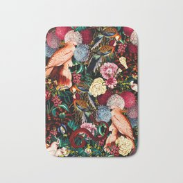 Floral and Animals pattern II Bath Mat